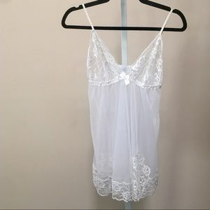 Frederiks Of Hollywood White Lace Cami  (M)